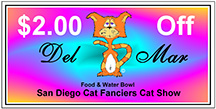 Del Mar Cat Show Coupon