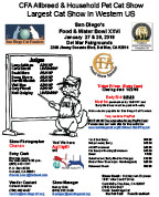 San Diego Cat Show Flyer